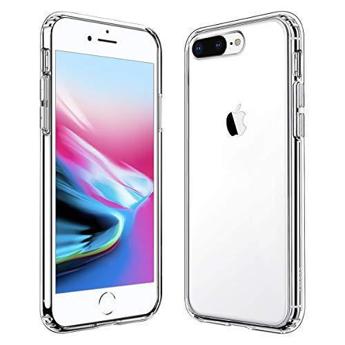 iPhone 8 Plus ケース iPhone 7 Plus ケース 透明 【2021進化版】耐衝撃 レンズ保護 衝撃吸収 全面 PC TPU 二層構造 滑り止め 軽い フィット感 黄変防止 5.5インチ 対応
