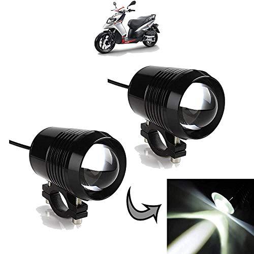 Generic (unbranded) Spot Beam LED Fog Lamps for Bullet 350 (Black, Set of 2) (U2-LED-LGT-SET2)
