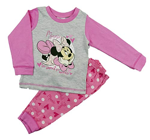 Baby Girl Pyjama Pyjama Sets Tatty Ted Winzig Tatty Teddy Nachtwäsche Zwei Stile - Grau und Pink Minnie Mouse, 86-92