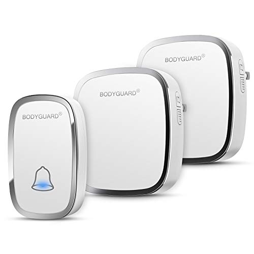 Bodyguard Wireless Doorbell with 1 Remote Button (Battery included) and 1 plug-in Receivers...