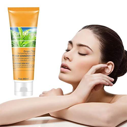 LifeBest 80ml Sonnenschutzmittel Schweißfeste feuchtigkeitsspendende Gesichts- und Körpersonnencreme Sonnenschutzcreme Feuchtigkeitsspendende Sonnenschutzcreme