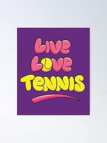 Situen Live Love Tennis - Poster per sala giochi, stampabili per bambini, decorazione da parete per cameretta, decorazione da parete stampabile