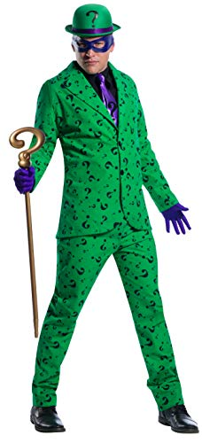 Charades DC Comics Riddler Men's Costume, As Shown, X-Large