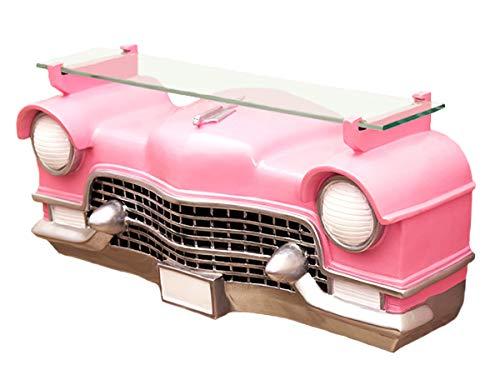 キャデラック カー ウォールシェルフ ピンク (GK065)ディスプレーラック オブジェ アメ車 ビンテージカー 飾り棚 棚 ラック アメリカ雑貨 ガレージ 西海岸風 インテリア アメリカン雑貨