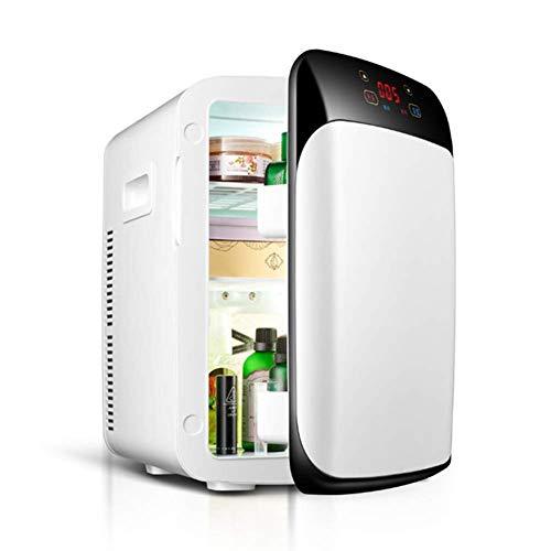 LKOER Mini Nevera, 15 litros Mini refrigerador y cálido refrigerador de automóvil con Pantalla LCD/Sistema de Doble núcleo/Super Tranquilo, Maquillaje jinyang