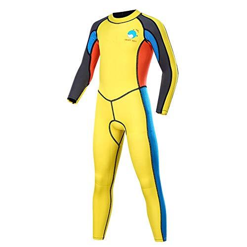 Traje de buceo para niños Traje de baño de los niños caliente de manga larga de una sola pieza del traje de baño Traje de buceo snorkel for practicar deportes acuáticos para deportes acuáticos
