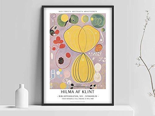 Póster de af Klint, impresión de hilma af Klint, impresión de arte abstracto, arte sueco, póster escandinavo, hilma af Klint, dibujo de arte moderno sin decoración de marco P 70x100cm