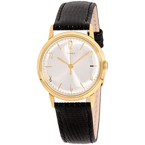 Timex Marlin - Reloj de pulsera para hombre con movimiento de cuarzo, esfera negra