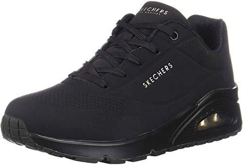 Skechers Uno- Stand On Air, Zapatillas Mujer, Negro (BBK Black Durabuck), 40 EU