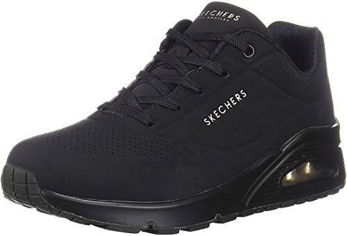 Skechers Women's Uno - Stand on Air Sneaker, Black, 9 M US