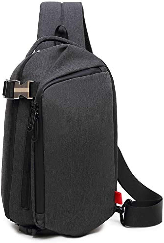 Generic Groe Kapazitt Brustbeutel Mnner Schulter Crossbody Tasche lssige Mode Outdoor-Tasche