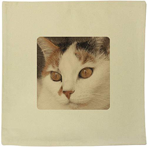 Azeeda 'Cat Face' Canvas Cushion Cover (CV00009022)