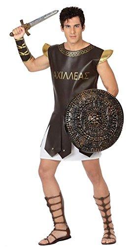 Atosa-26833 Disfraz gladiador romano, color marrón, M-L (26833)