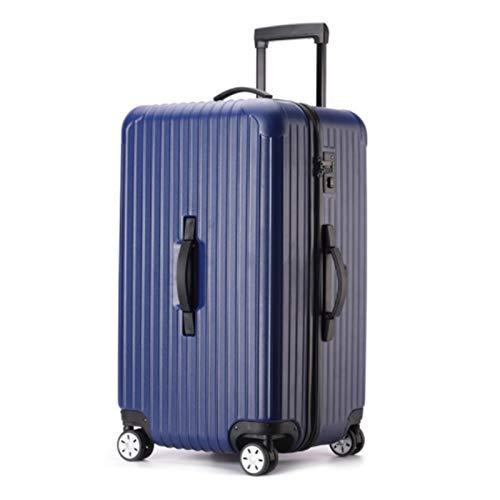 Conjunto de equipaje, juego de maleta de carcasa de carcasa dura, rodillos, viaje expandible ligero ABS + PC Maleta, 26 pulgadas de 28 pulgadas 30 pulgadas de 32 pulgadas ( Color : Blue , Size : 30 )