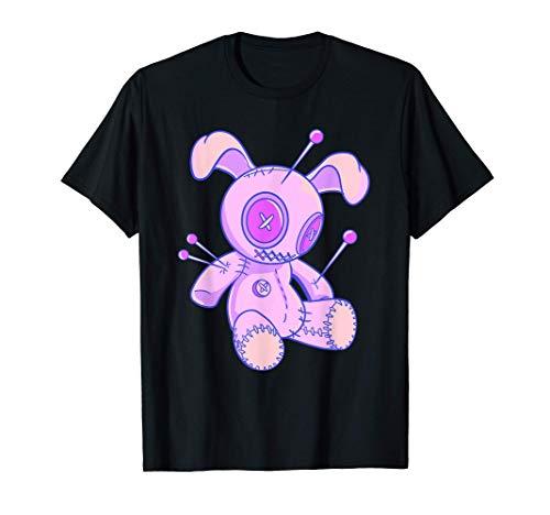 Muñeca vudú con orejas de conejo Cojín de alfileres Camiseta