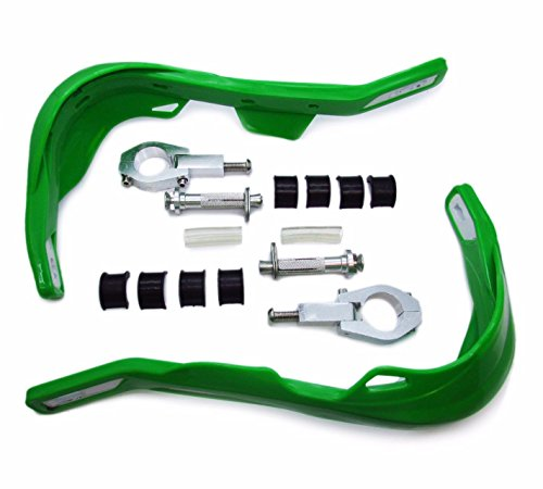 LEAGUE&CO Protège Main 7/8 22mm-11/8 32mm Dirtbike Standard Universel Handguards Protecteur Vert
