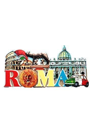 Imán para nevera, diseño de Roma Italia 3D