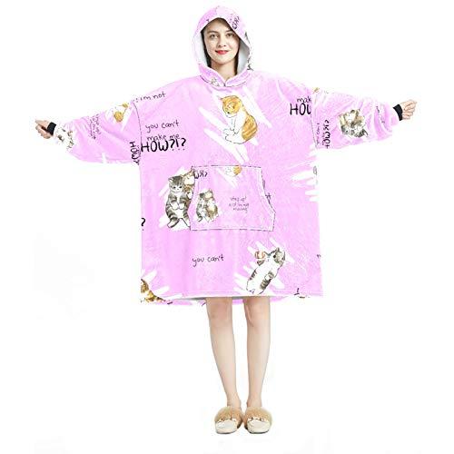 Sudadera con capucha para mujer, cómoda para el hogar, chándal relajado, con flores de colores cálidos