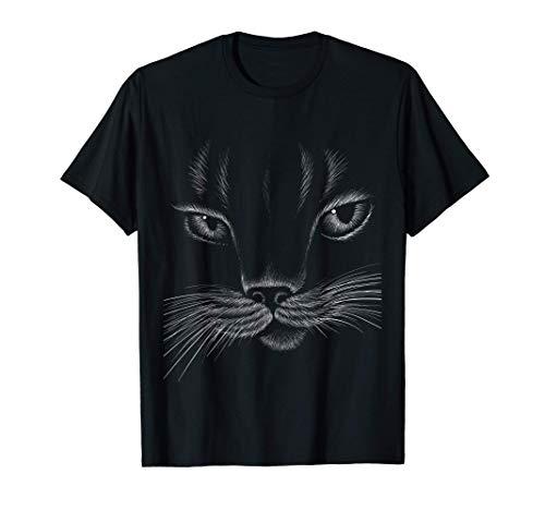 Disfraz de Gato Negro de Halloween Hombres Mujeres Niños Camiseta