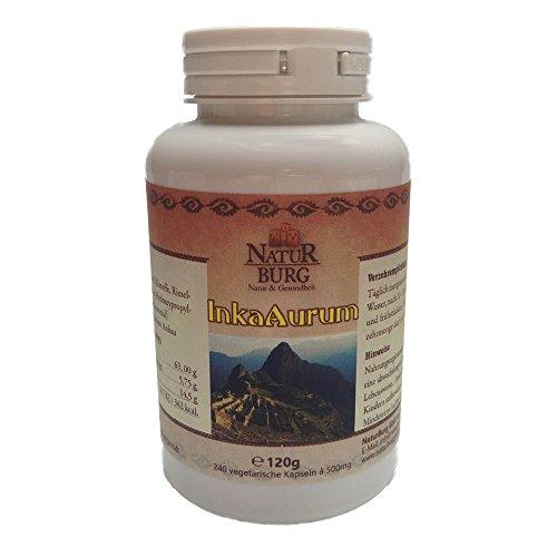 Inka Aurum Amaranth Quinoa Kapseln Eiweiss Protein Nahrungsergänzungsmittel 1er Pack (1 x 240 Kapseln) - Gute Laune L Tryptophan Serotonin Melatonin