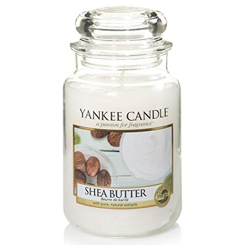 Yankee Candle Shea Butter Candela Profumata in giara grande, Bianco