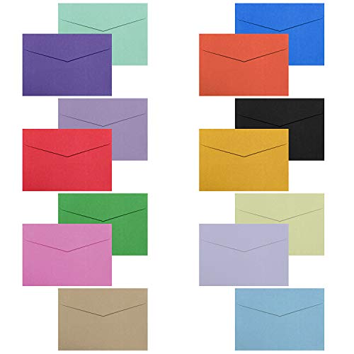 Business Envelopes, 140 Pack Envelopes,4.5 x 3 Inches, Suitable for Ceremony, Festival, Wedding, Business with14 Colors