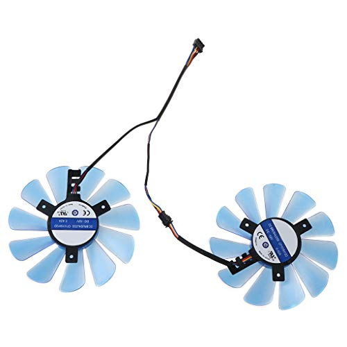 Yoking Ersatz-Kühlventilator, GPU/VGA, für Grafikkarten His / RX480 / RX570 / RX470, 2 Stück