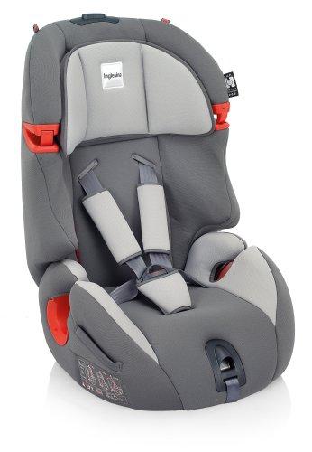 Inglesina Prime Miglia - Silla de coche (1-2-3 (9-36 kg, 9 meses - 12 años), Gris, 45 cm, 7 cm, 44 cm)