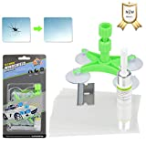 VSTM Car Windshield Repair Kit, Upgraded Auto Windshield Repair Kit Tool with Windshield Repair Resin for Fix Auto Glass Windshield Cracks, Chips, Half Moon Crescents, Bulll's-Eyes and Stars