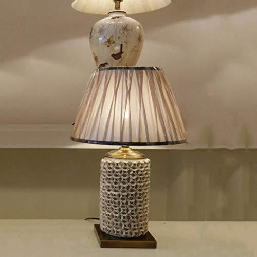 Z-D Tischlampe Schreibtisch Keramik Tischlampe - American Country Wohnzimmer, Gehobene Hotelvilla, Modellraum Keramik Parkett Tischlampe (Farbe: A), b
