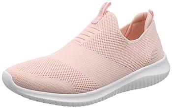Skechers Ultra Flex First Take Womens Slip On Walking Sneakers Light Pink 9.5