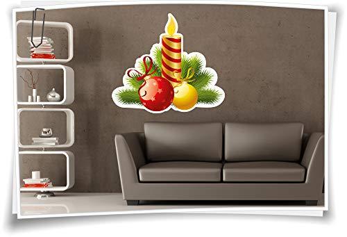 Medianlux muurschildering muurtattoo kerst kerst Advent kaars dennenboomversiering kerstdecoratie sticker sticker