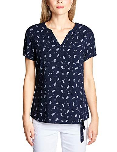 CECIL Damen 341456 Bluse per pack Mehrfarbig (deep blue 20128), Large (Herstellergröße:L)