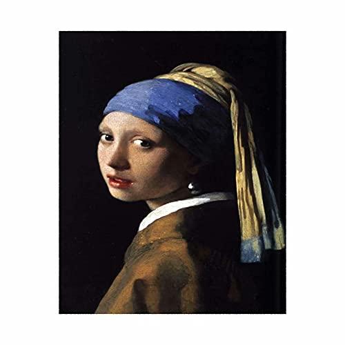 Póster de Johannes Vermeer, 30 x 40 cm, diseño de la chica con un pendiente de perlas