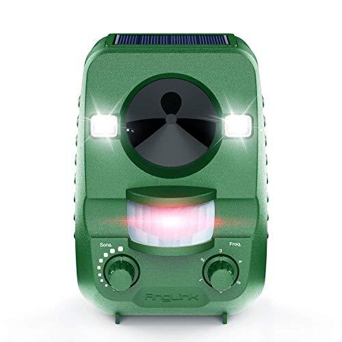 AngLink 2021 Neu Katzenschreck, Solar Ultraschall abwehr mit Batteriebetrieben und Blitz Empfindlichkeit Wetterfest, Hundeschreck Tiervertreiber für Katzen, 5 Modus, IPX44 Wasserdichter, Grün
