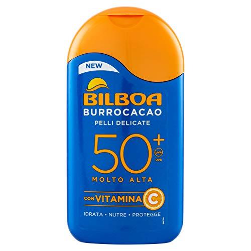 Bilboa, Burrocacao Latte Solare SPF 50+, Protezione Solare Molto Alta per Pelli Sensibili, Formula...