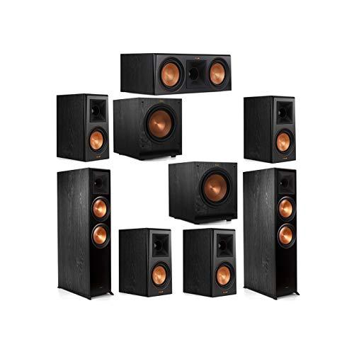 Lowest Price! Klipsch 7.2 System with 2 RP-8000F Floorstanding Speakers, 1 Klipsch RP-600C Center Sp...