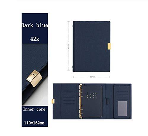 A5 A6 luz de lujo oficina de negocios reunión de gama alta cuaderno de hojas sueltas cuaderno de espiral hebilla de metal de 6 agujeros agenda agenda agenda-J