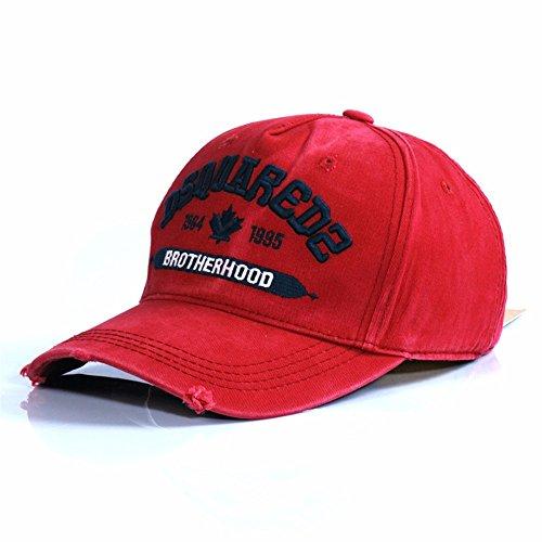 HYP@Baseball Cap/Baseballkappe/Trucker Cap/Trucker Hat/Golf Sport Outdoor Kappe Mütze CapCotton Cap Stickerei, Rot, verstellbar