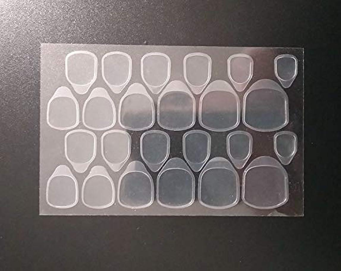 気候カナダパネル10枚セット つけ爪用 両面テープ ネイル 推奨超強力両面テープ ネイル両面接着剤 ネイルチップ用粘着グミ 両面テープ付きマニキュアチップ 両面ゲル