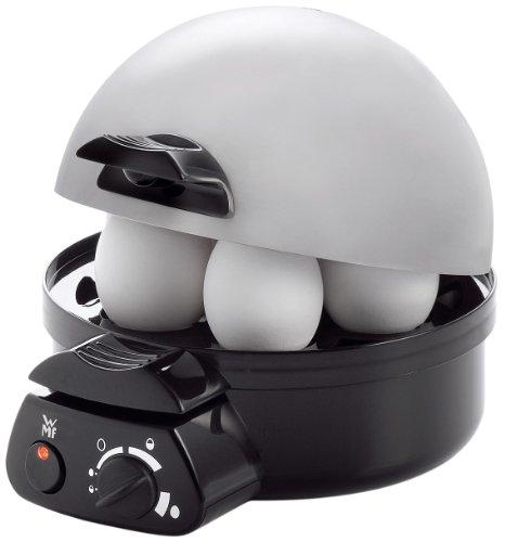 WMF STELIO Eierkocher für 1-7 Eier, 350 W, mit Härtegradeinstellung, cromargan matt/silber