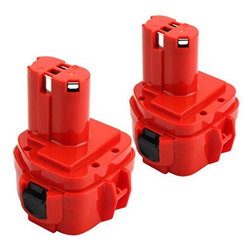 Exmate 2 Pack 12V 3500mAh Battery Replacement Ni-MH for Makita 12V 1220 1222 1233 1200 1201 1234 1235 192681-5 Cordless Power Tools