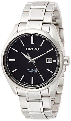 [セイコーウォッチ] 腕時計 プレザージュ 無反射ブラック文字盤 メカニカル サファイアガラス チタンモデル SARX057 メンズ シルバー