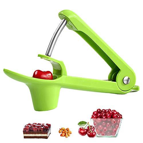 Cherry Pitter, Portable Cherry Core Remover Olive Pitter, Ehobroc Cherry Pitter Remover, Space-Saving Lock Design Kitchen aid (green)