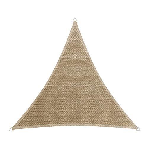 Windhager 10751 Capri Voile d'ombrage Triangulaire 4 x 4 m (cuise) Protection Solaire pour Jardin et terrasse, résistant aux UV et aux intempéries