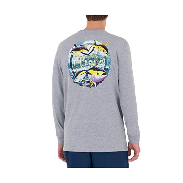 Guy Harvey Men's Offshore Fish Collection Long Sleeve Pocket T-Shirt