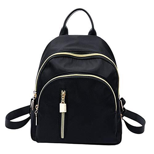 gazechimp Moda Feminina Pequena Clássica Mini Mochila de Viagem Bolsa Preta Fashion Shoulder Bag Chic Casual Backpack