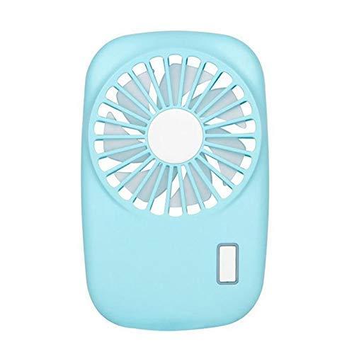 Mini ventilator kleine desktop airconditioning ventilator, draagbare USB-fan mini handcamera vorm oplaadbare zomer airconditioning koeltas fan voor outdoor reizen Office Blue Kejing Miao