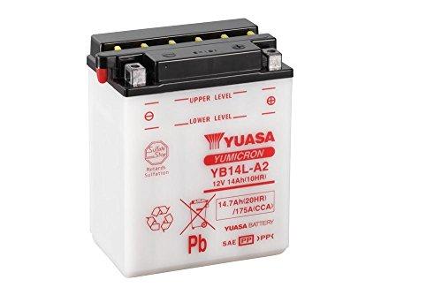 Preisvergleich Produktbild Batterie YUASA YB14L-A2,  12V / 14AH (Maße: 136x91x168) für Kawasaki ZX-10 Tomcat 1000 Baujahr 1990