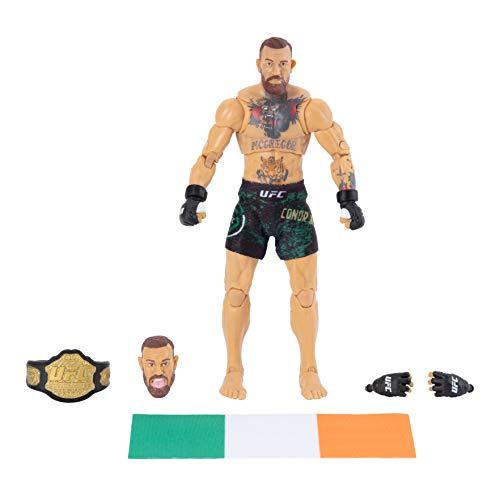 UFC Ultimate Series Limited Edition Conor McGregor, Sammler-Actionfigur, 15,2 cm, inkl. alternativem Kopf und Handschuhen, Kampfshorts, Gürtel und irischer Flaggen-Zubehör